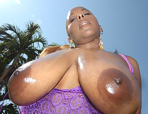 Juicy chocolate madam is demonstrating her big tits and her awesome fuck skills. She is never going to fogret this great interracial sex.