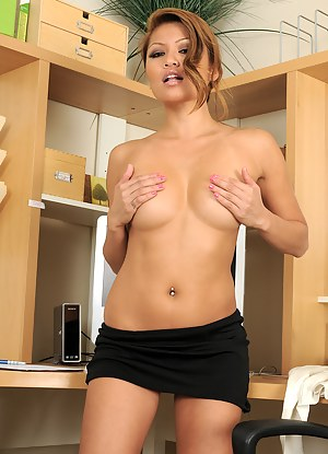 Exotic MILF Charmane from AllOver30 peels off her office clothes