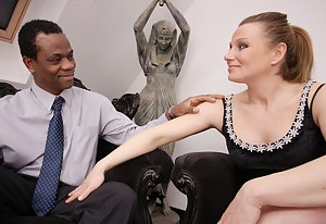 Pregnant housewife loving her black lover
