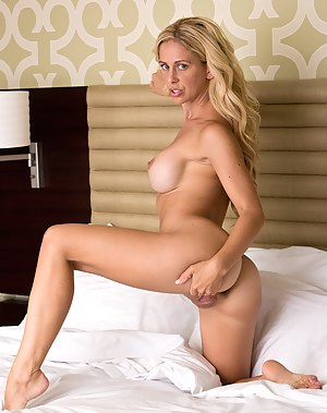 Hot mom Cherie Deville spreads her pink pussy wide open