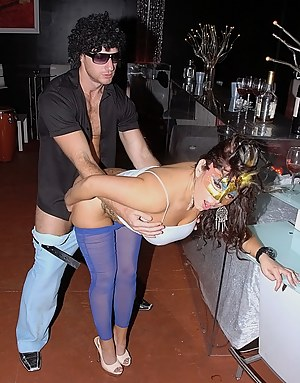She desn't know this man at all but she lets him push his penis into her slutty holes. She is also drinking alcohol with him and feeling orgasms.