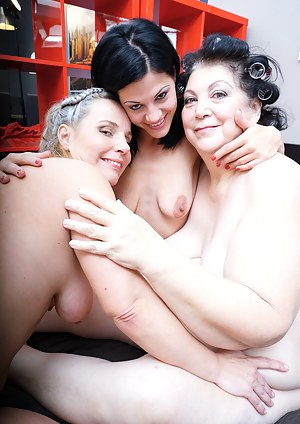Three old and young lesbians making it big