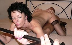 Horny mature nympho fucking her ass off