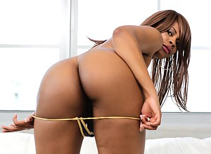 Be ready to learn some sexual lessons from this juicy ebony slut. She is taking off her purple clothes and getting her sweet cunt banged.
