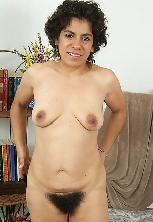 Wicked hairy bush on this 44 year old brunette housewife.