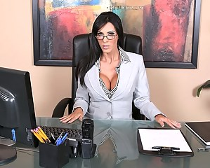 Sick and tired of the work marvelous secretary wants to have sex. MILF cutie makes her boss ready for it with amazing blowjob and tits fucking session.
