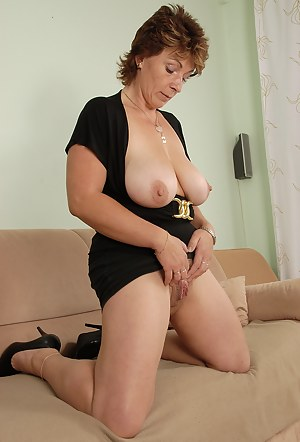 All natural and hairy Misti from All Over 30 spreads her furry pussy