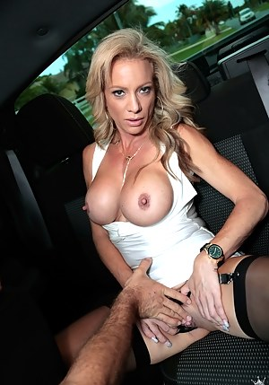 Filthy model wearing sexy stockings is feeling great getting her wet holes drilled with this passionate fellow's massive aggregate.