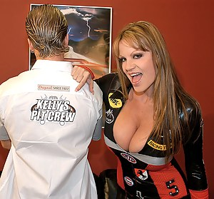 Continued from Pit Crew#1. All Kelly needed was a little oral action to get her engine running. Without any hesitation, Ryan dove right in to her pussy, tongue first, as though he were in a race all his own. A couple of licks to the clit and Kelly was...