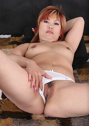 Mature Asian Mackenzie gets her older pussy fucked raw.