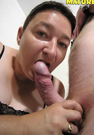 This mature slut loves a cock to knibble on