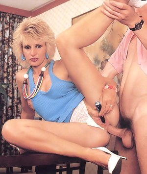 Shaved seventies blonde gets some hard deep anal stuffing