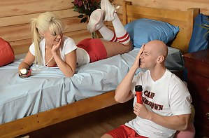 Summertime camps equal good times. Especially if your camp buddy is a curvy, stacked, tanned and incredibly horny blonde bitch.
