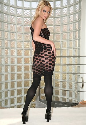 Meet juicy MILF fucking with her lover in big room. She is looking really hot wearing nothing but black stockings. Her partner's cock is what she needs for happiness.