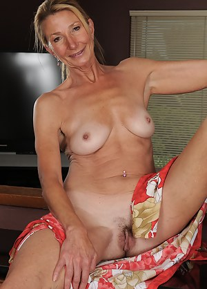Horny housewife Pam shows off her gorgeous 56 year old body