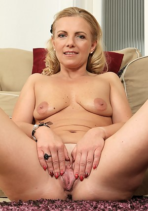 47 year old Britney from AllOver30 spreads her long mature legs
