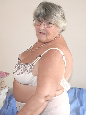 Grandma Libby starts off looking all sweet and demure in this pretty dress but once the camera starts rolling I come to
