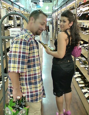 Strong fellow is going to show all of you what real fun is. He is drinking some alcohol while drilling this busty slut's sweet holes.