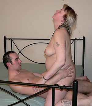 Blonde chubby mature slut having great sex fun