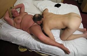 Big blonde mature slut fucking and sucking