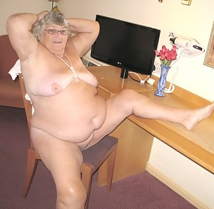 Granny here again to get you going with these sexy pictures.  I just love playing in front of a mirror  partly because I