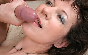 Horny housewife gets the cock she's been begging for