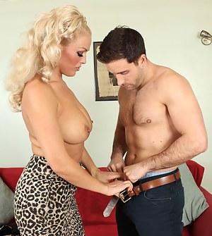 Steamy big breasted British MILF getting it on
